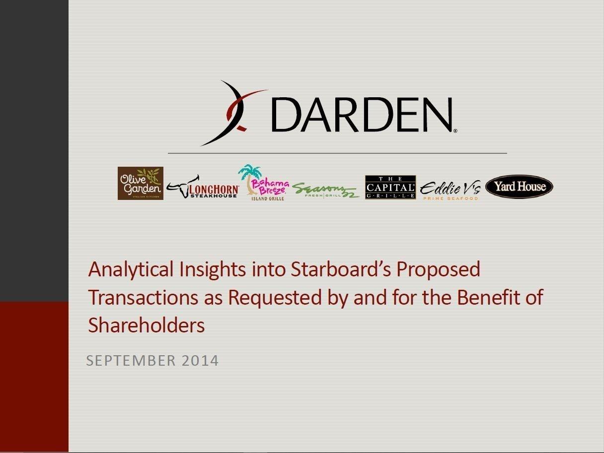Darden Response to Starboard (Sep-2014)
