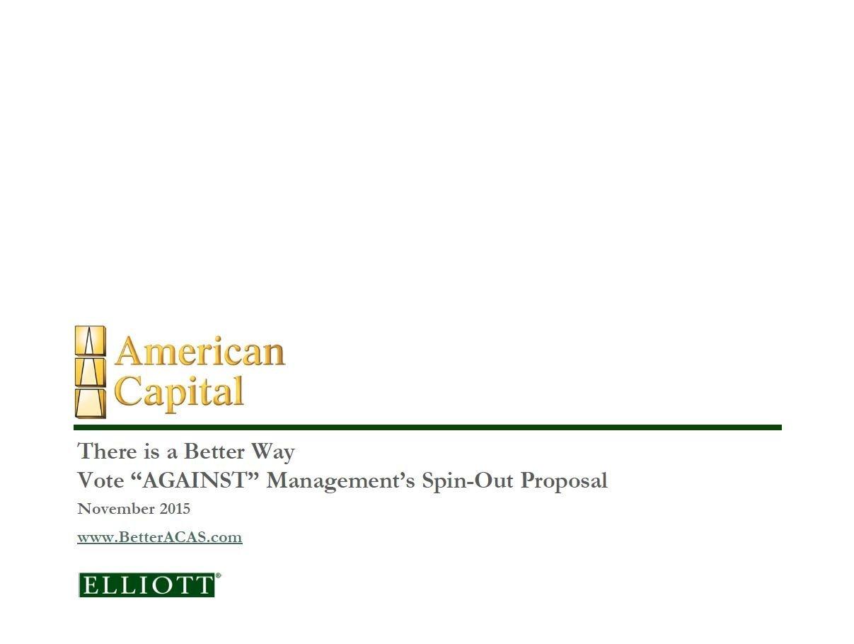 Elliott American Capital Presentation