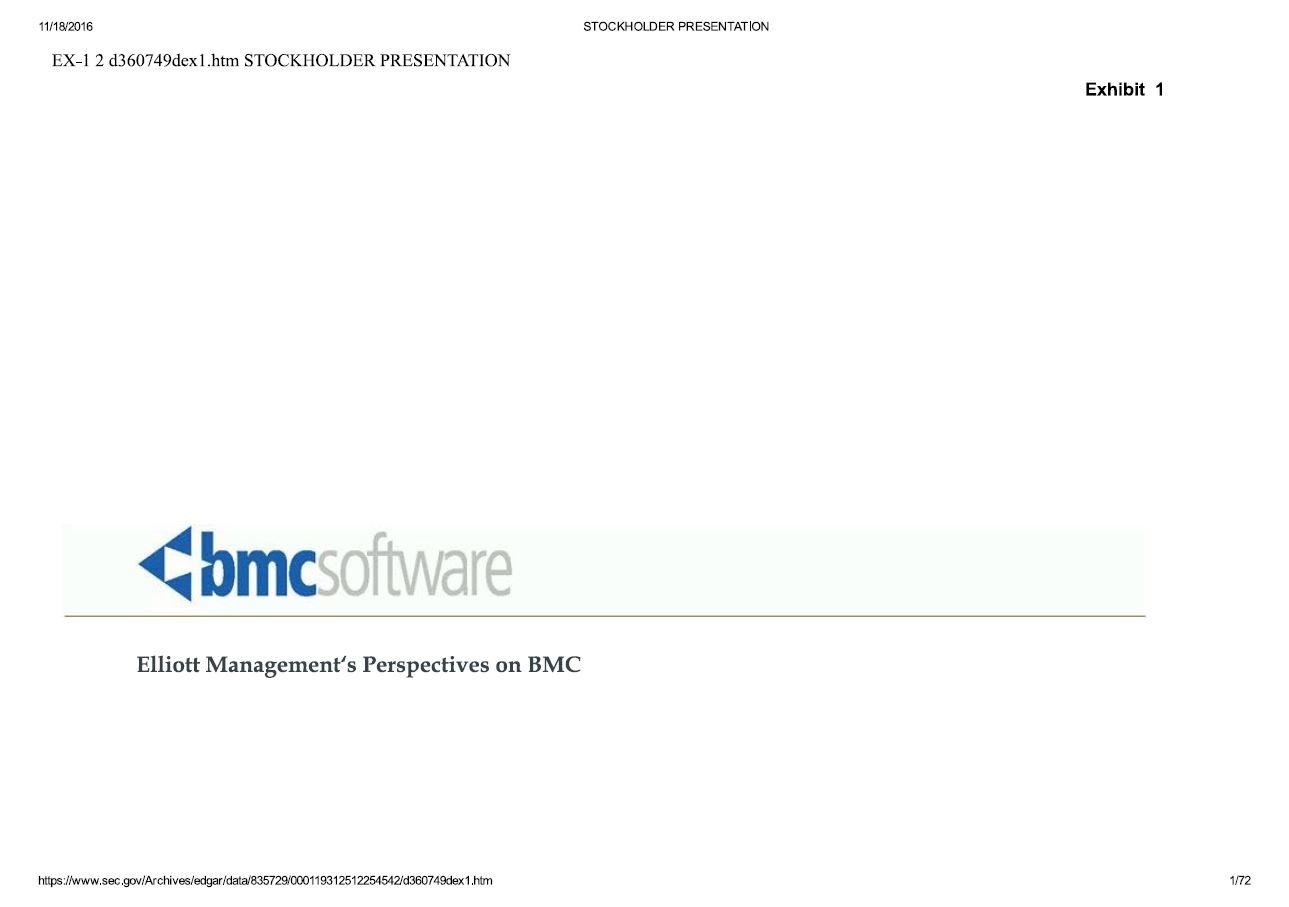 Elliott BMC Software Presentation (May-2012)