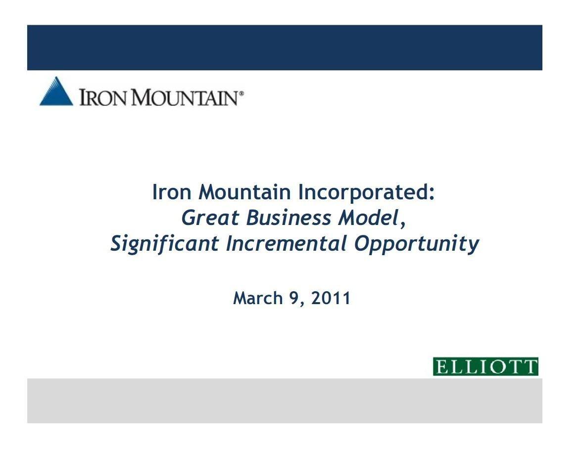 Elliott Iron Mountain Presentation (Mar-2011)