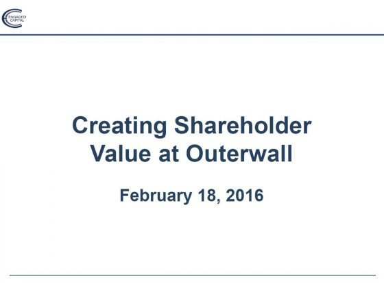 Engaged Capital Outerwall Presentation