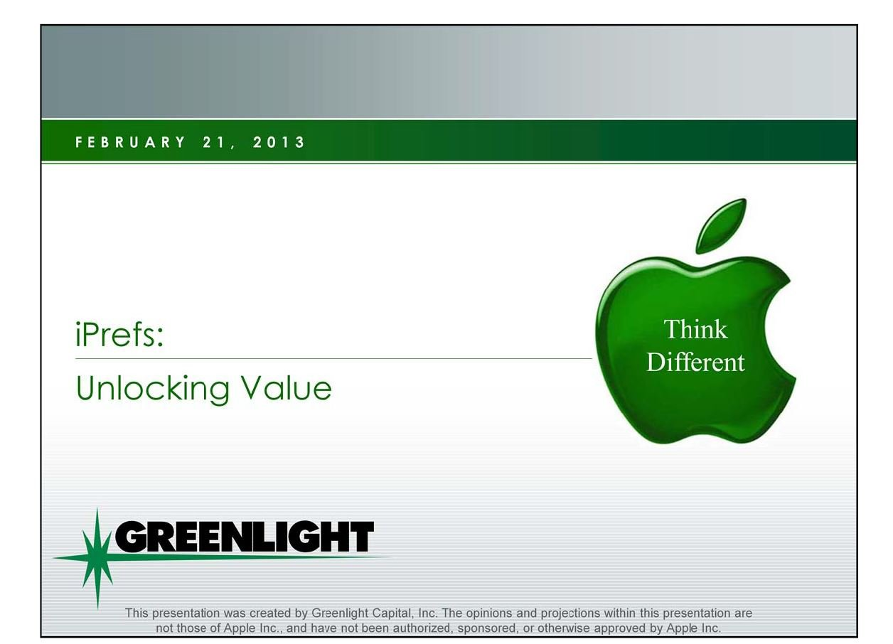 Greenlight Apple Presentation (Feb-2013)