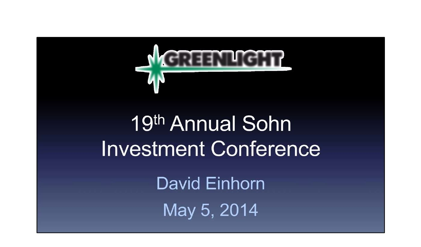 Greenlight athenahealth Presentation (May-2014)