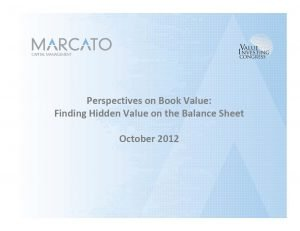 Marcato Real Estate Presentation (Oct-2012)