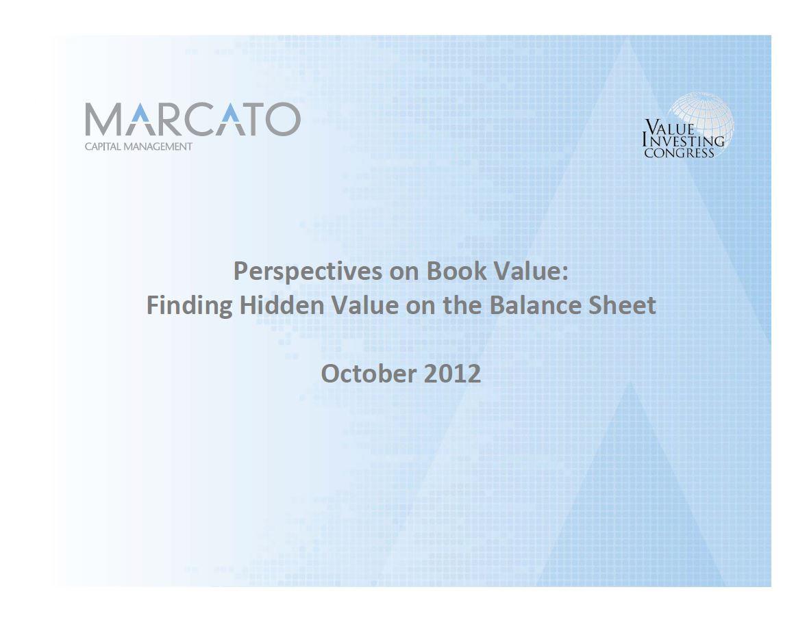 Marcato Real Estate Presentation (Oct-2012)