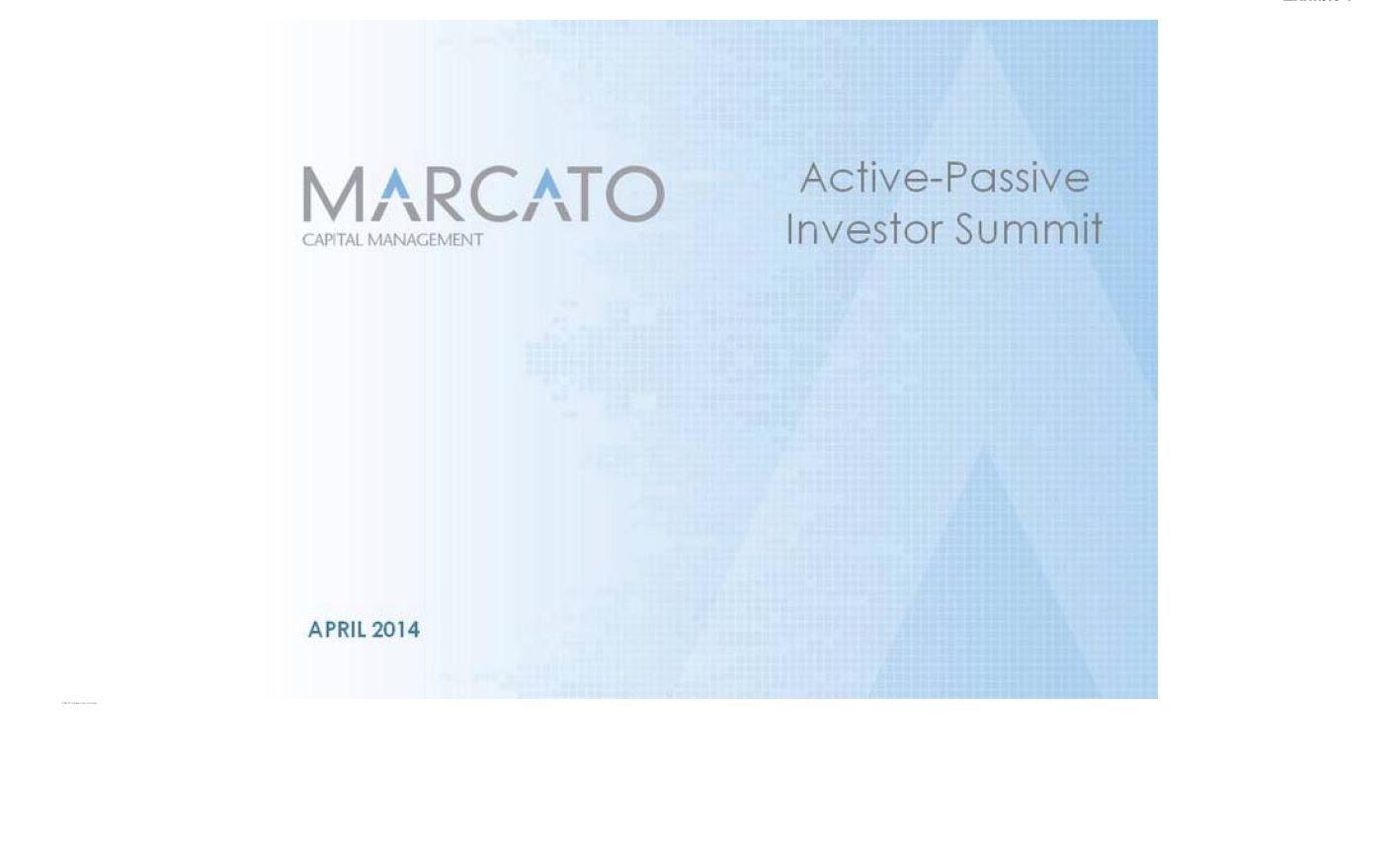 Marcato Sotheby's Presentation (Apr-2014)