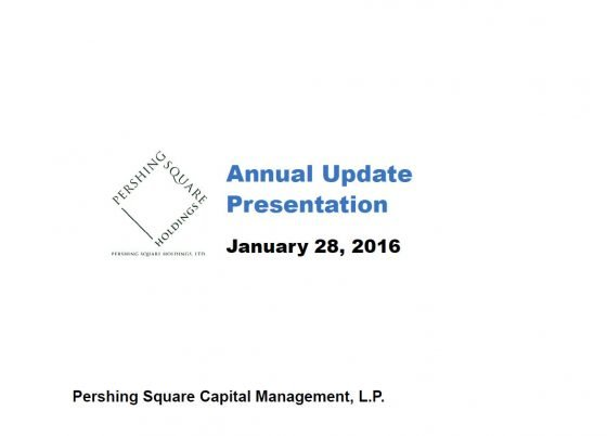 Pershing Square 2015 Annual Update Presentation
