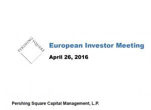 Pershing Square European Investor Meeting