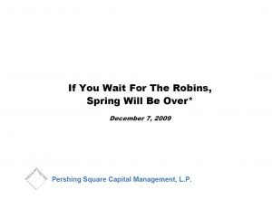 Pershing Square Mall REIT Presentation (Dec-2009)