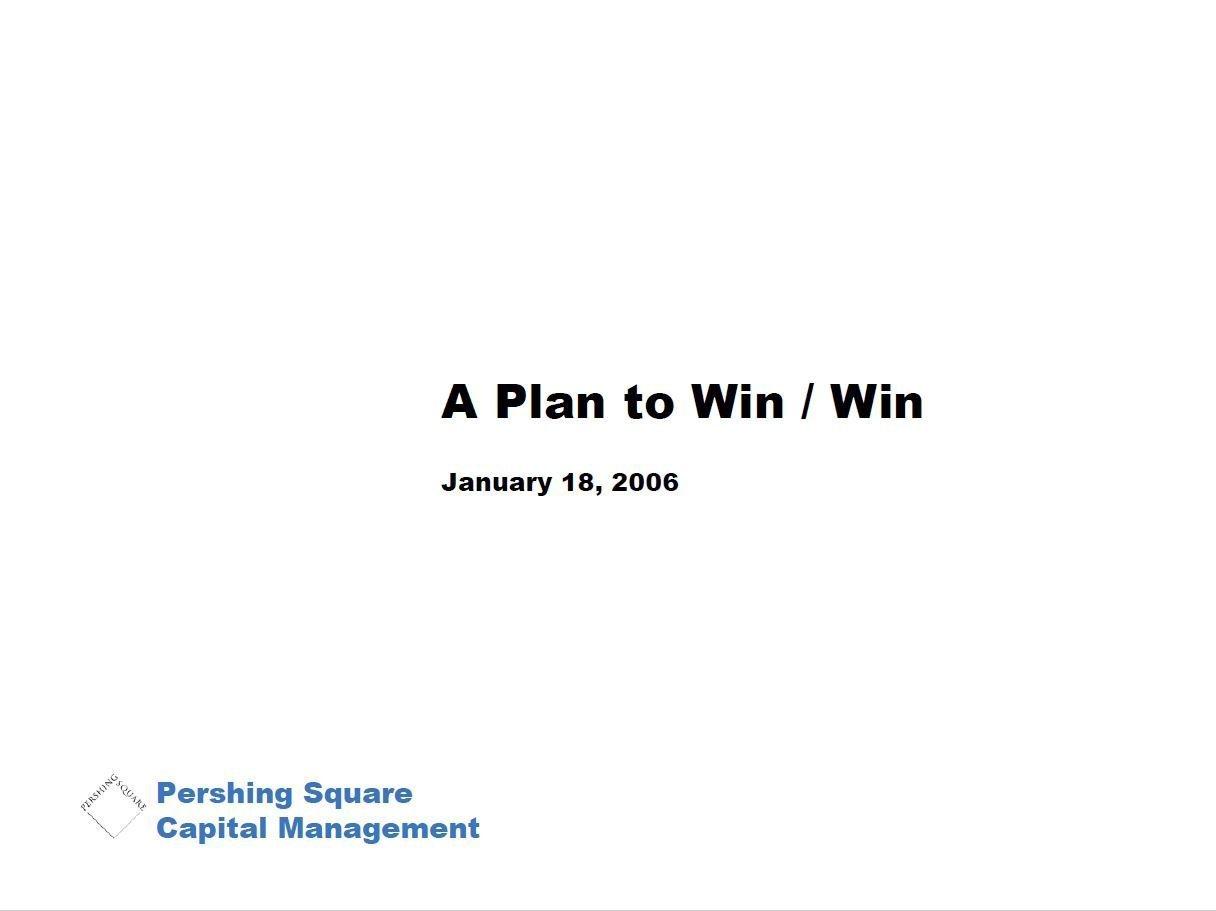 Pershing Square McDonald's Second Presentation (Jan-2006)