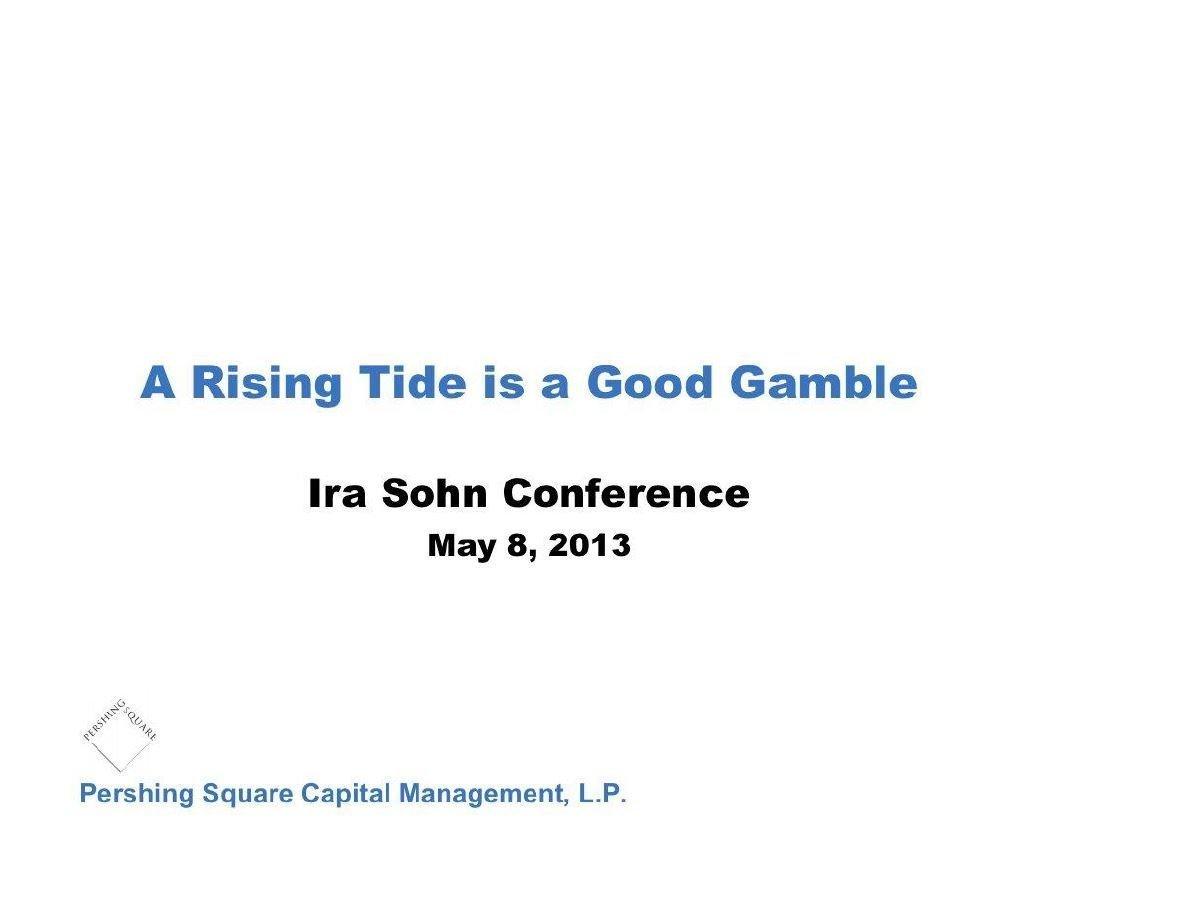 Pershing Square Procter & Gamble Presentation (May-2013)