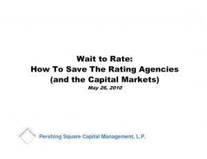 Pershing Square Rating Agencies Presentation (May-2010)