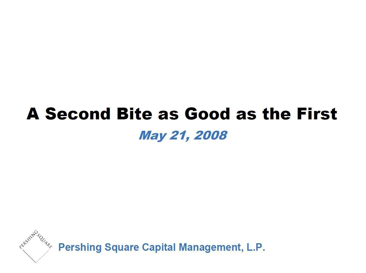 Pershing Square Wendy's Presentation (May-2008)