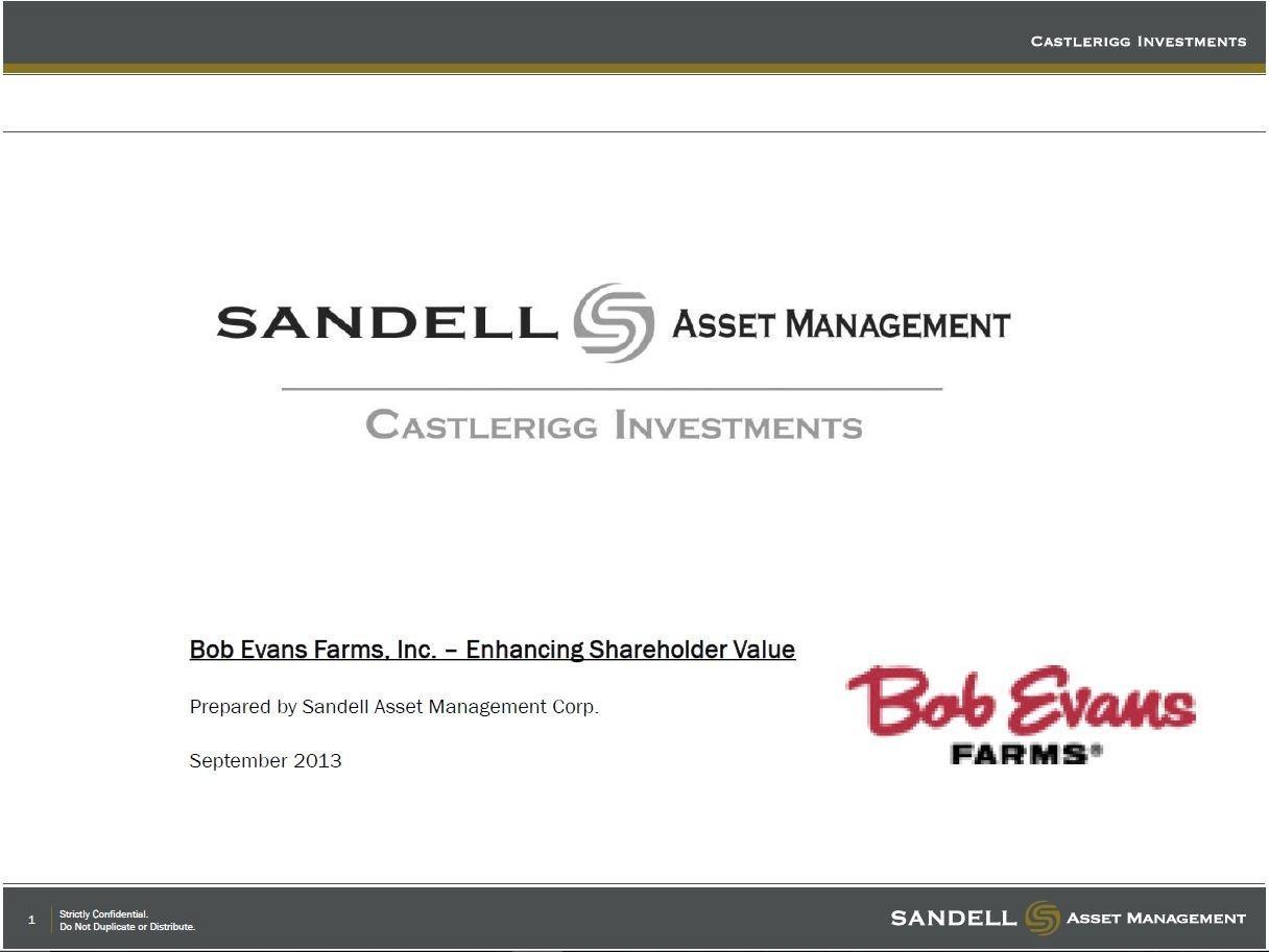 Sandell Bob Evans Presentation (Sep-2013)
