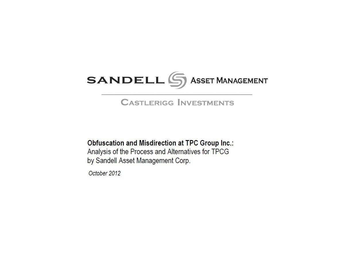 Sandell TPC Group Presentation (Oct-2012)