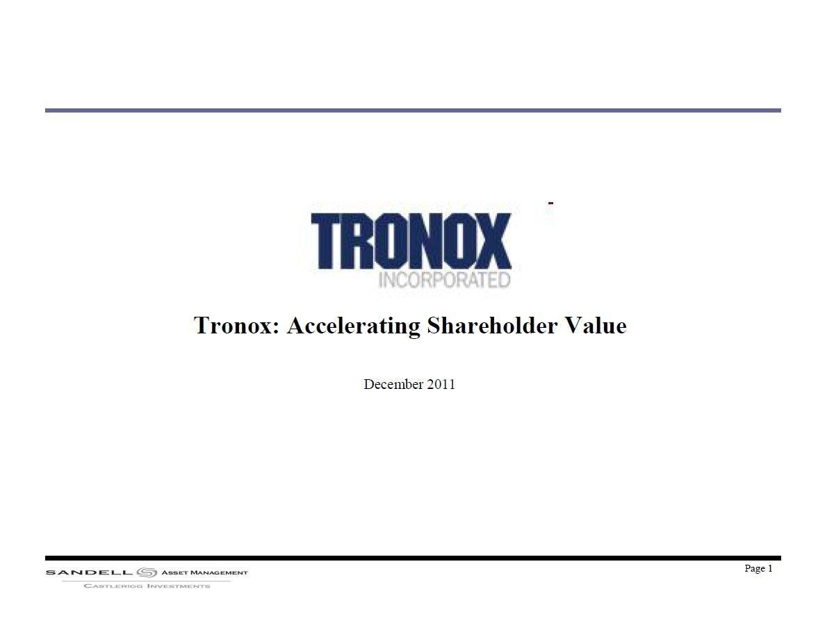 Sandell Tronox Presentation (Dec-2011)