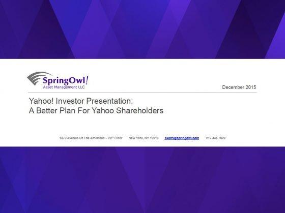 SpringOwl Yahoo! Presentation
