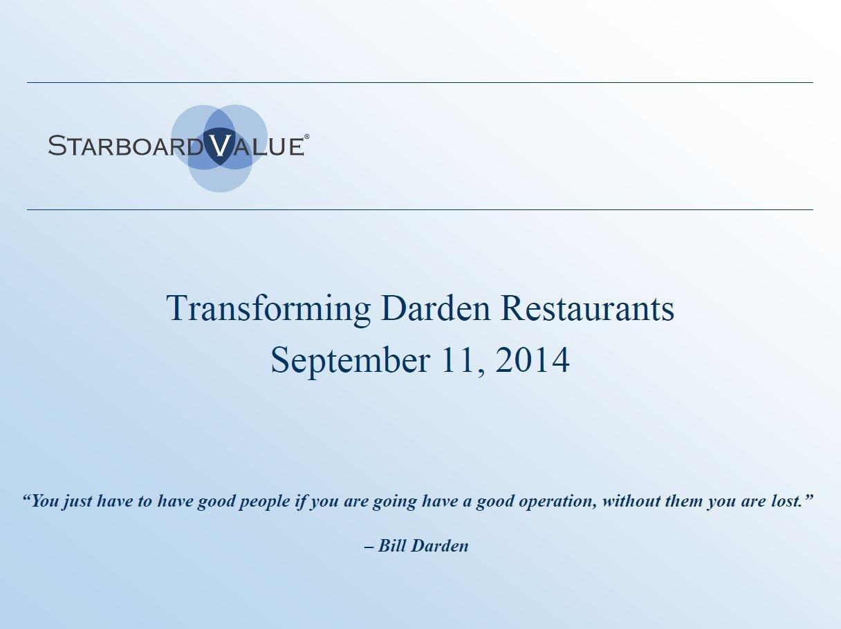 Starboard Transforming Darden Presentation (Sep-2014)