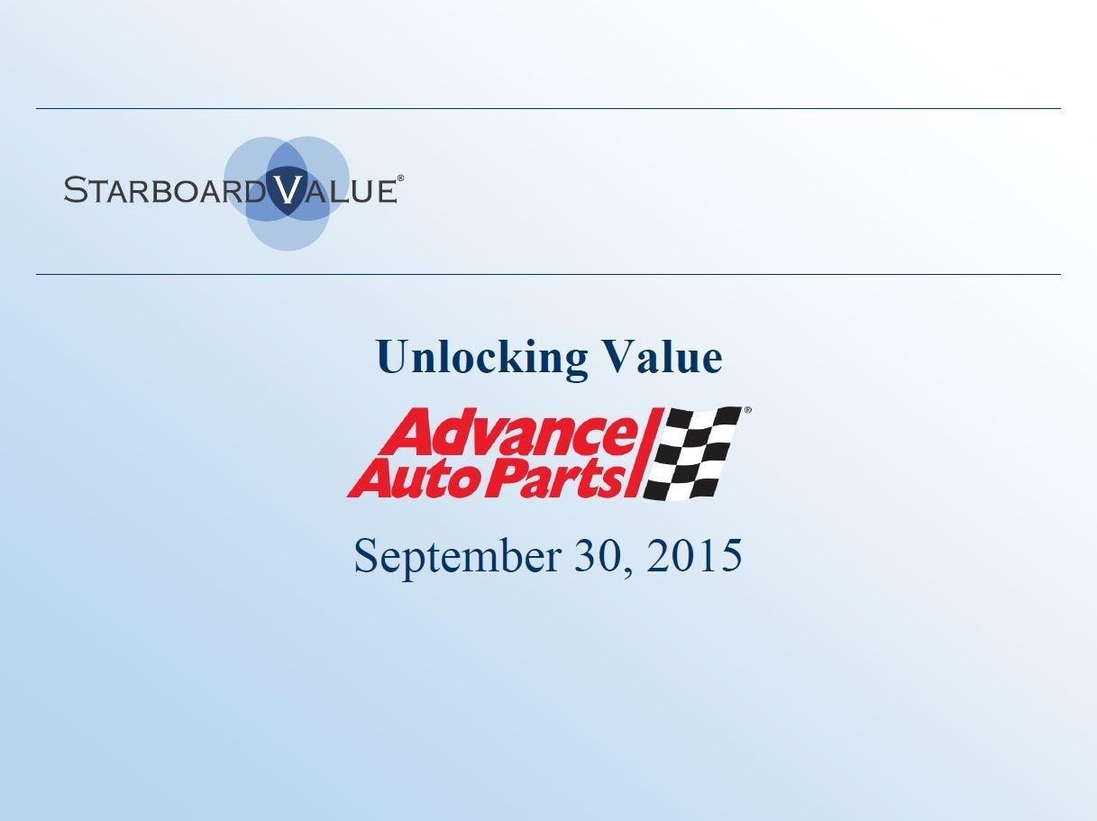 Starboard Value Advanced Auto Parts Presentation