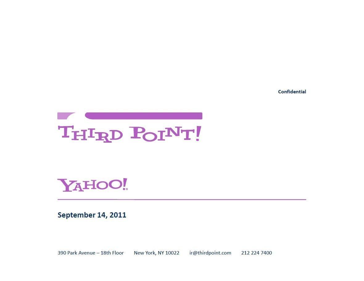 Third Point Yahoo! Presentation (Sep-2011)
