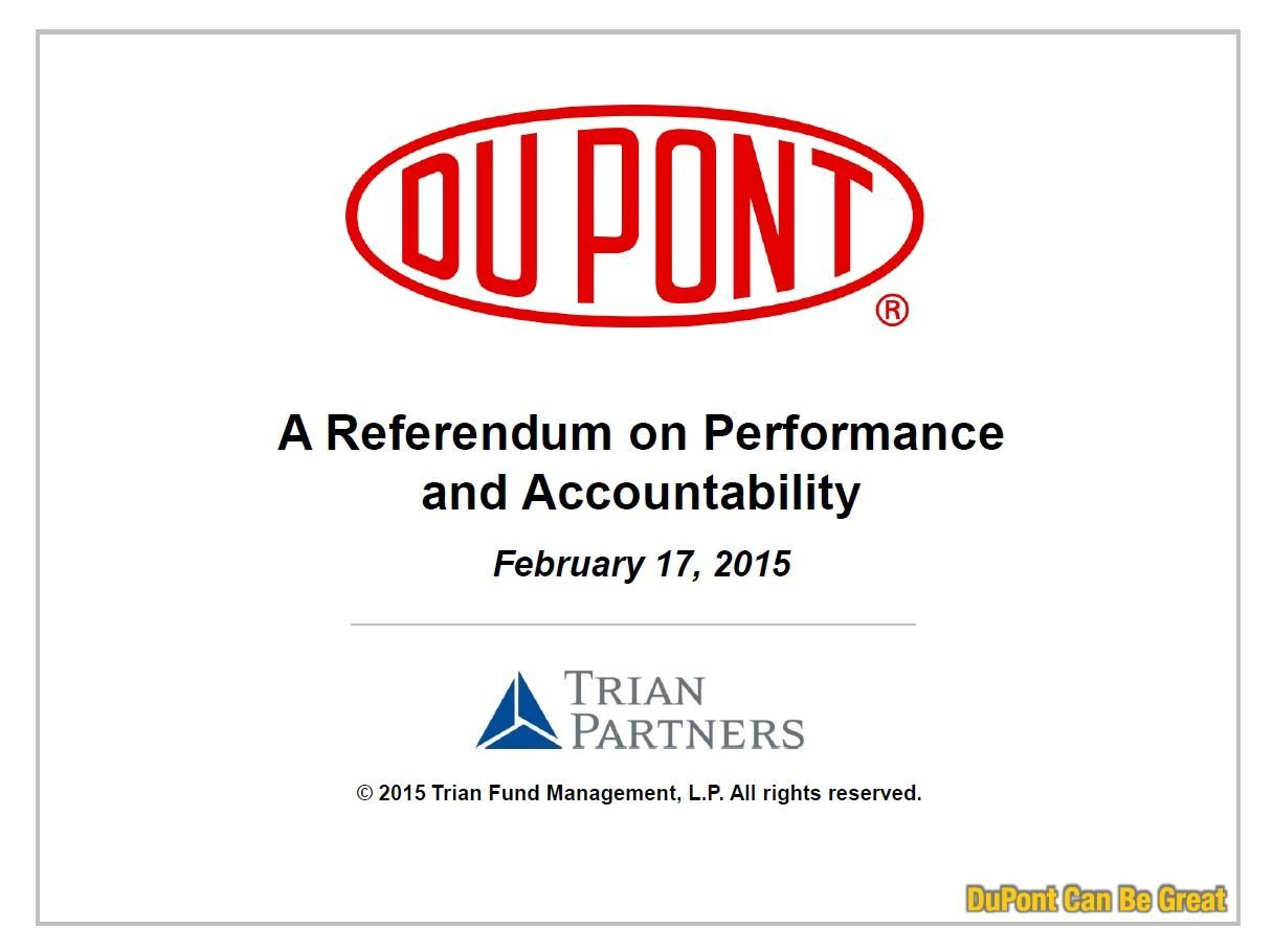 Trian DuPont Can Be Great Presentation (Feb-2015)