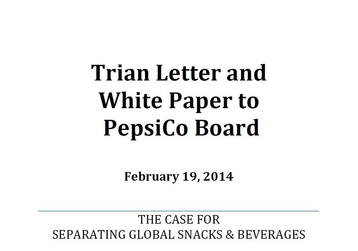 Trian PepsiCo White Paper (Feb-2014)