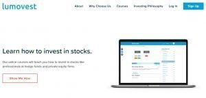 Lumovest home page